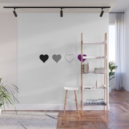 Asexual Heart 1 Wall Mural