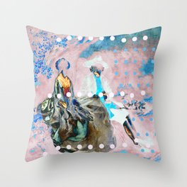 The Lovers In Pink Throw Pillow