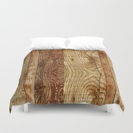 Wood Photography Duvet Cover