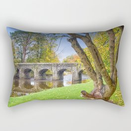 The Old Stone Bridge Rectangular Pillow