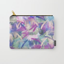 Pastel Floral Extravaganza Abstract Carry-All Pouch
