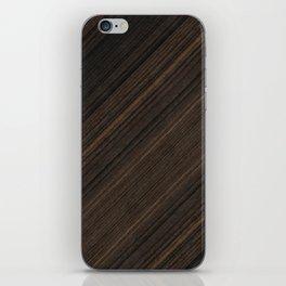 Ebony Macassar Wood iPhone Skin