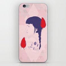 skull+face iPhone Skin