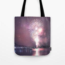 NYE Fireworks in Geelong, Victoria - Australia Tote Bag