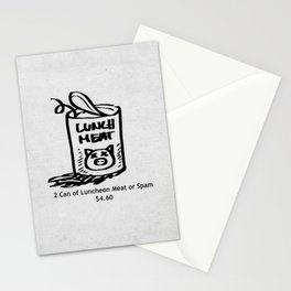 Luncheon Meat Stationery Cards