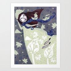 Clouds in November, Autumn Wind Splendor Art Print