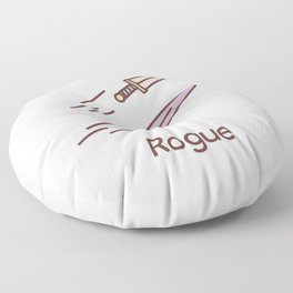 Cute Dungeons and Dragons Rogue class Floor Pillow