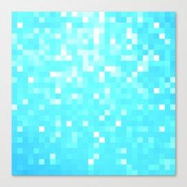 turquoise Pixel Sparkle Canvas Print