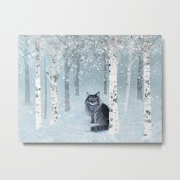 Norwegian Winter Forest Metal Print
