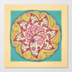 Mandala Amebas Canvas Print