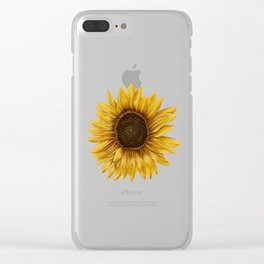 Realistic Sunflower - Kansas State Flower Clear iPhone Case