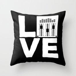 Sound Engineer Love Mixer Soundboard Audio Music Throw Pillow
