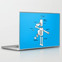 bender Laptop & iPad Skins featuring Bender by Enrique Guillamon