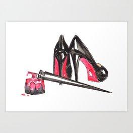 High Heels and nail polish art Art Print