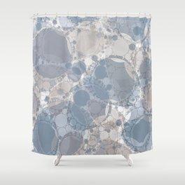 Round & Round Smoke & Steel Shower Curtain