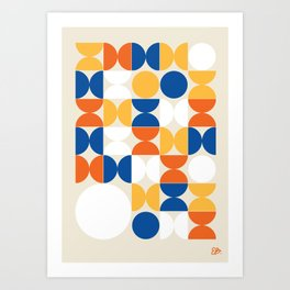 Circle Pattern - Multi colored Art Print
