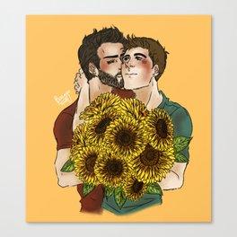 Sterek Sunflower Print Canvas Print
