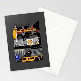 Berlin at Night Stationery Cards