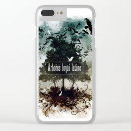 arbores loqui latine Clear iPhone Case