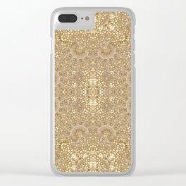 Ornate Golden Baroque Design Clear iPhone Case