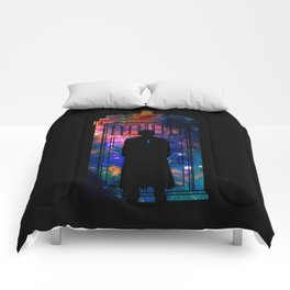 Space Tardis 10th Doctor Comforters