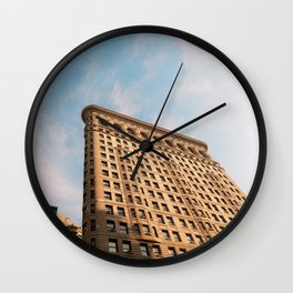 Looking up to the Flatiron Building | NYC Wall Clock