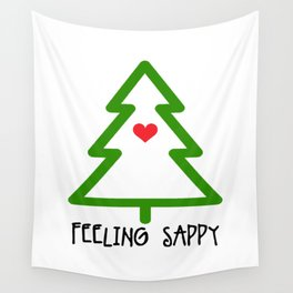 Feeling Sappy Tree Wall Tapestry