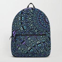 Blue Sacred Kaleidoscope Mandala Backpack