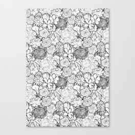Clean & bright white flowers Canvas Print