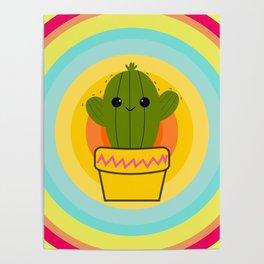 Cute cactus Poster