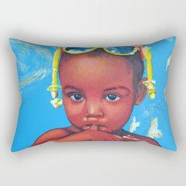 Look of innocence Rectangular Pillow
