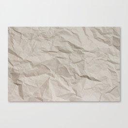 Wrinkly Crumply Canvas Print