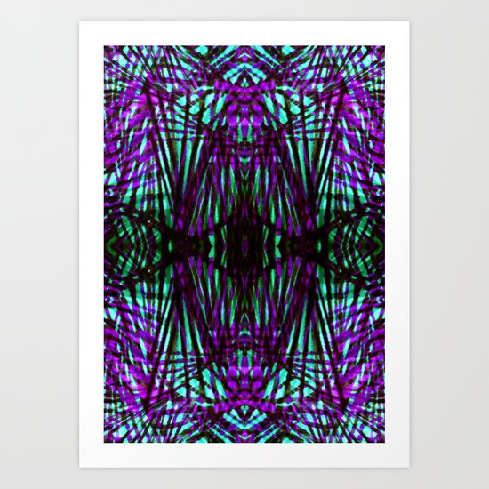 Electric Jungle Art Print