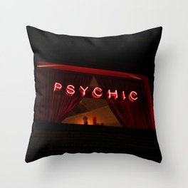 A Distinctive Shade of Red (7th & Bleecker) Throw Pillow