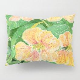 Nasturtium flowers in the garden Pillow Sham