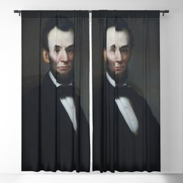 Abraham Lincoln portrait in the Lincoln room Blair House located across from the White House Washing Blackout Curtain