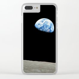 Earthrise High Resolution Clear iPhone Case