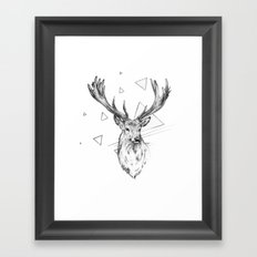 Frankly Deer Framed Art Print