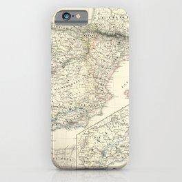 Vintage Map - Spruner-Menke Handatlas (1880) - 16 Spain under the Almoravids, 1086 - 1257 iPhone Case