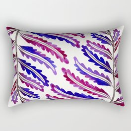 Fern Leaf – Indigo Palette Rectangular Pillow