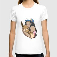 eevee T-shirts featuring Trainer And Eevee by Little Kitty