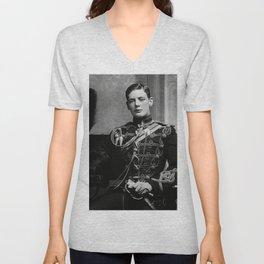 Winston Churchill, 1895 black and white portrait photograph Unisex V-Neck