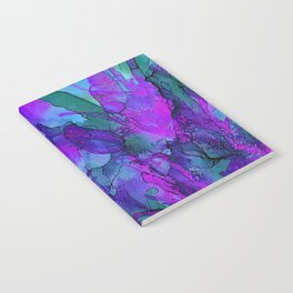 Alcohol Ink Flowers 2 Notebook
