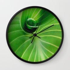 Leaf / Hosta with Drop (2) Wall Clock