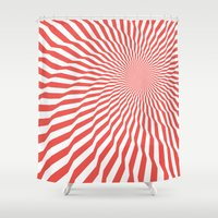 vertigo Shower Curtains featuring Vertigo by Simon C Page