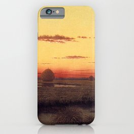 Duck Hunters In A Twilight Marsh 1866 By Martin Johnson Heade | Reproduction iPhone Case