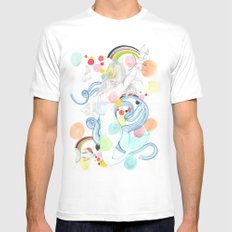 The Siren White SMALL Mens Fitted Tee