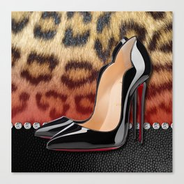 High Heel Stilettos and Leopard Print Canvas Print