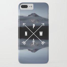 PNW Pacific Northwest Compass - Mt Hood Adventure iPhone Case