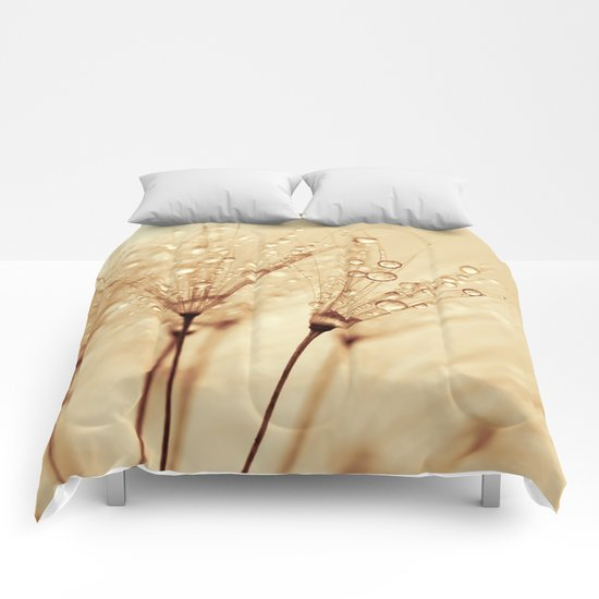 droplets of liquid gold Comforters